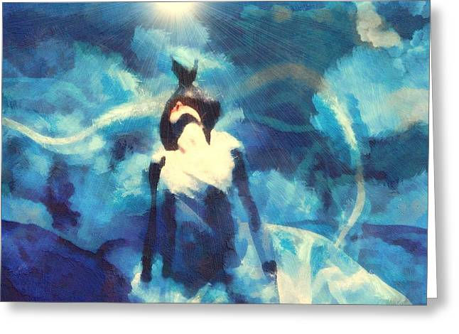 Salvation Mixed Media Greeting Cards - Salvation Greeting Card by Dan Sproul