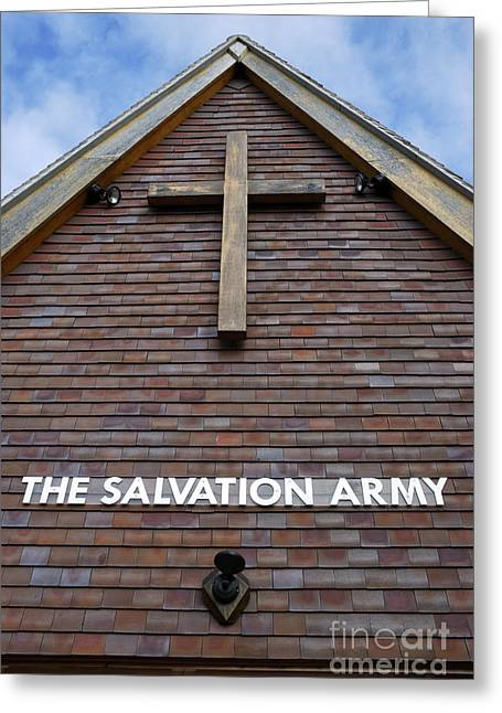 The Wooden Cross Photographs Greeting Cards - Salvation Greeting Card by Doug Wilton