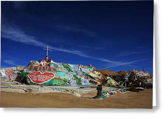 Installation Art Greeting Cards - Salvation Mountain Greeting Card by Laurie Search