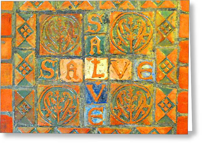 Salve Greeting Cards - Salve Hello Greeting Card by Jost Houk