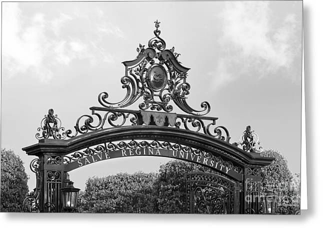 Newport Greeting Cards - Salve Regina University Gate Greeting Card by University Icons