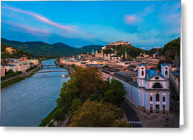 Salzburg 04 Greeting Card by Tom Uhlenberg