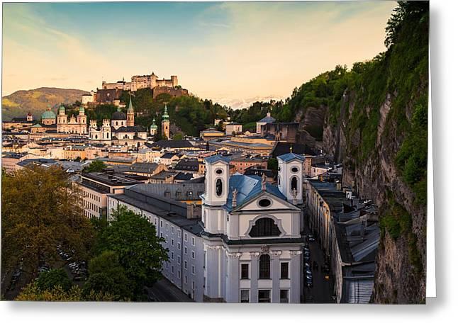 Salzburg 06 Greeting Card by Tom Uhlenberg