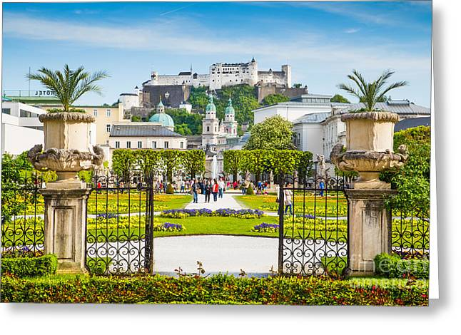 Salzburg Greeting Cards - Salzburg in Springtime Greeting Card by JR Photography