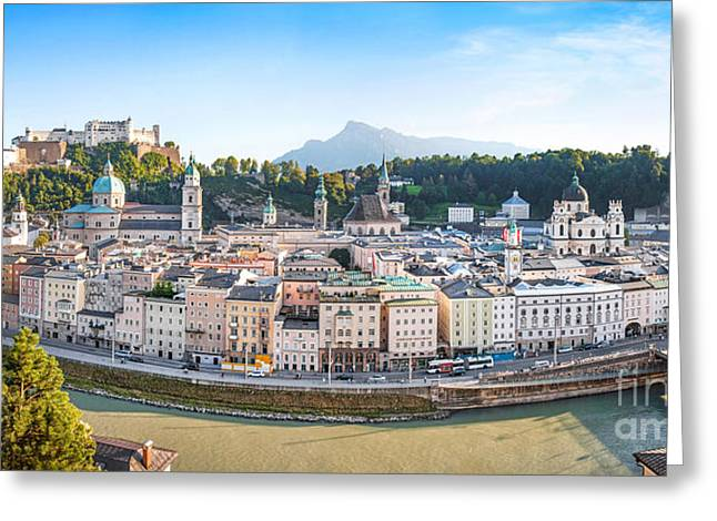 Wolfgang Greeting Cards - Salzburg Greeting Card by JR Photography