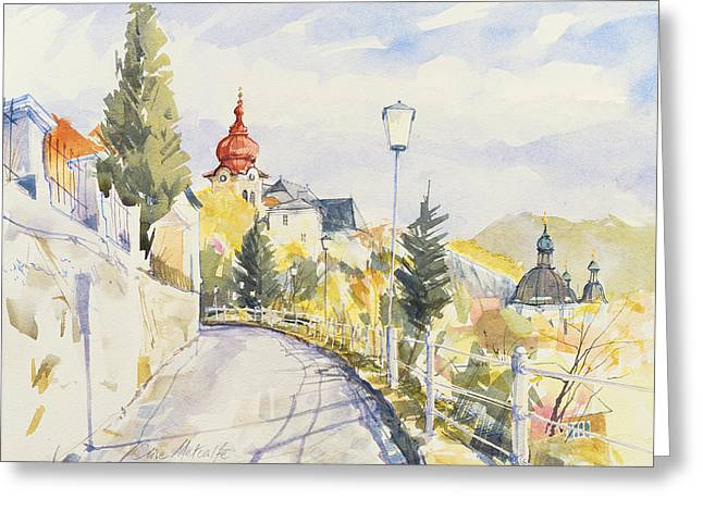 Salzburg Nonntal  Greeting Card by Clive Metcalfe
