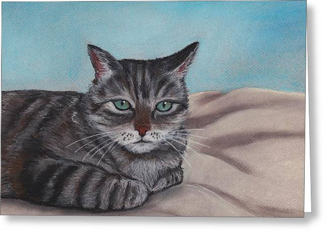 Sad Eyes Greeting Cards - Sam Greeting Card by Anastasiya Malakhova