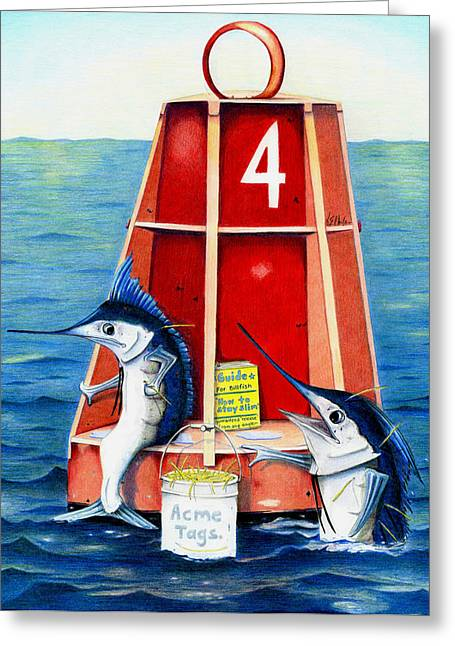 Marlin Tournaments Greeting Cards - Sam and Ralph Greeting Card by Karen Rhodes