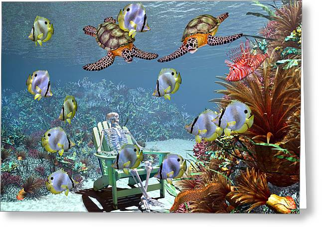 Protected Sea Life Greeting Cards - Sam and the Sea Greeting Card by Betsy A  Cutler