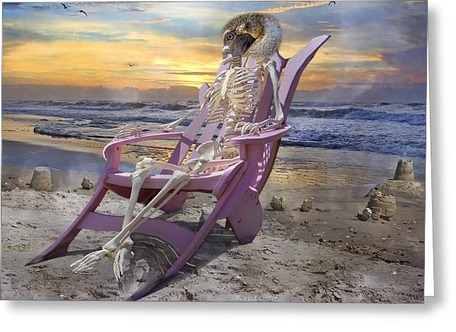 Sam Becomes Animalistic Greeting Card by Betsy C Knapp