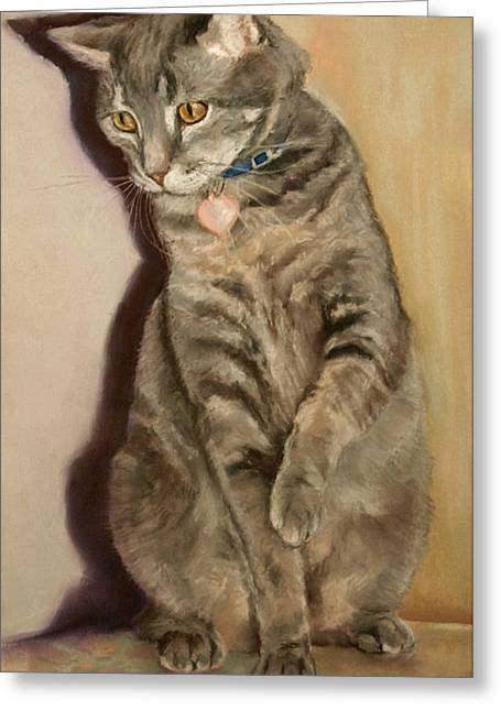 Recently Sold -  - House Pet Greeting Cards - Sam Greeting Card by Debbie Hughbanks