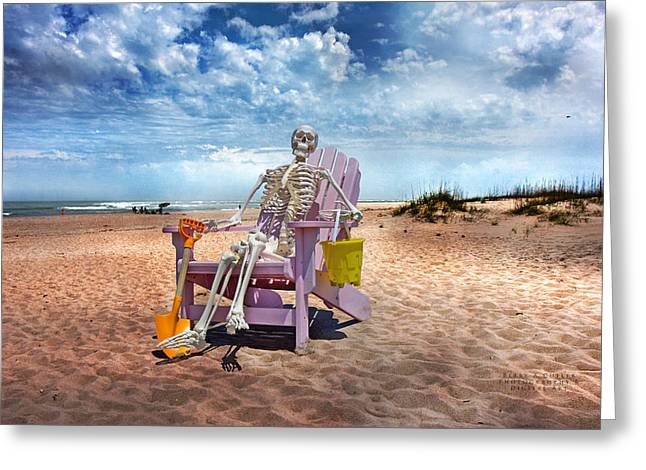 Cloudy Day Greeting Cards - Sam Discovers Bald Head Island Greeting Card by Betsy C  Knapp