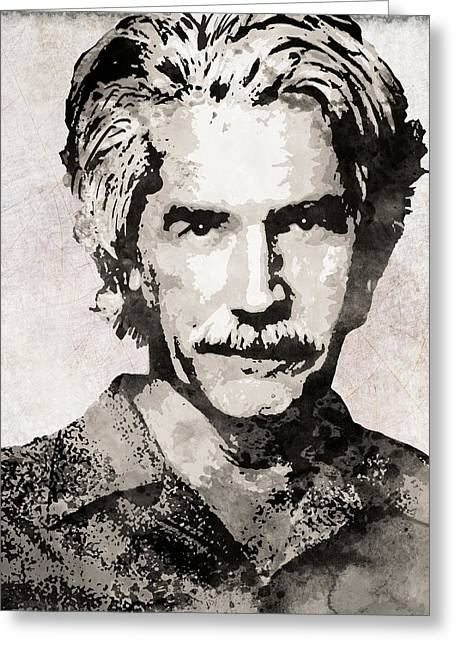 Sam Elliott 3 Greeting Card by Daniel Hagerman