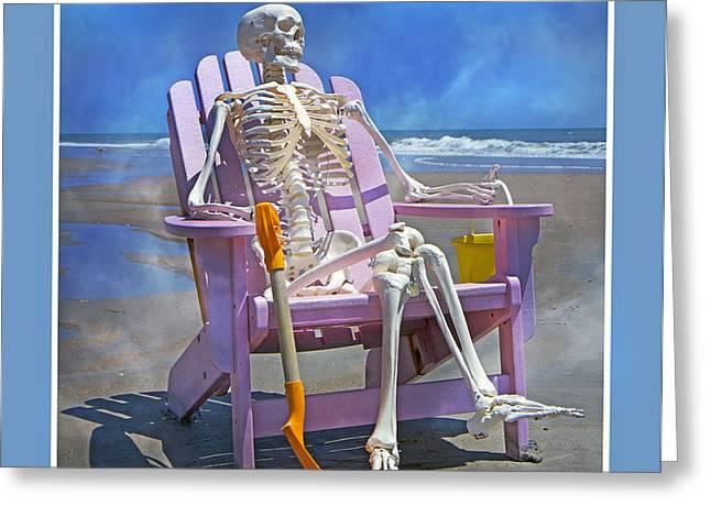 Sam Enjoys the Beach -- Again Greeting Card by Betsy C  Knapp