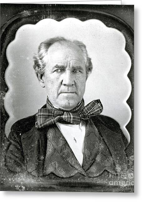 History Of Tennessee Greeting Cards - Sam Houston, American Politician Greeting Card by Photo Researchers