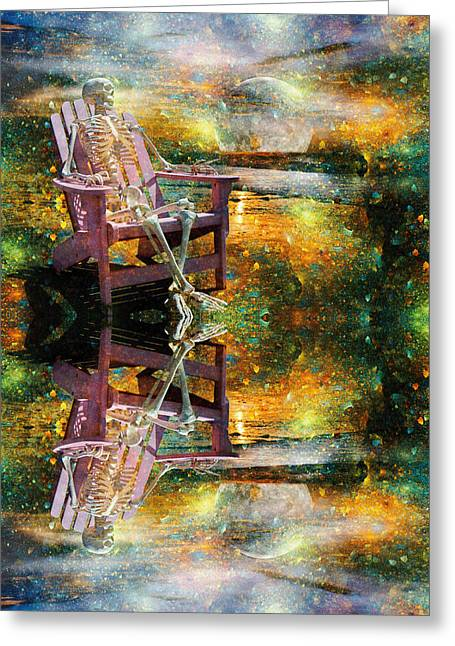 Scale Digital Greeting Cards - Sam Reflects on Karma Greeting Card by Betsy C  Knapp