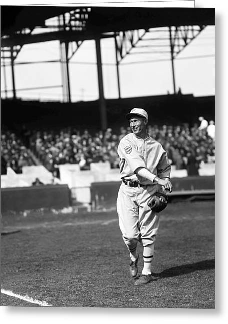 Baseball Game Greeting Cards - Sam Rice Greeting Card by Retro Images Archive