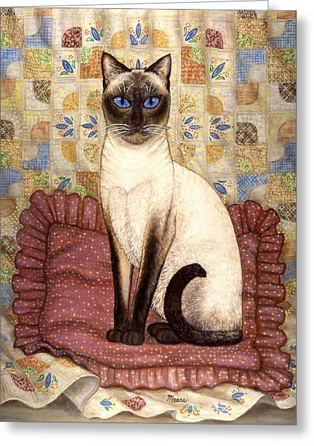 Samantha Cat Greeting Card by Linda Mears