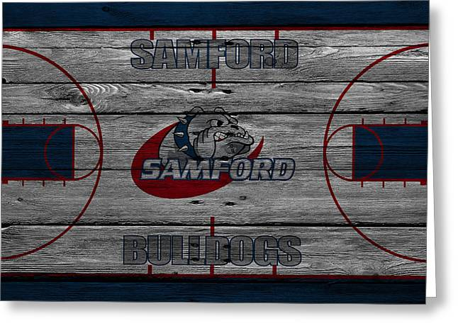 March Greeting Cards - Samford Bulldogs Greeting Card by Joe Hamilton
