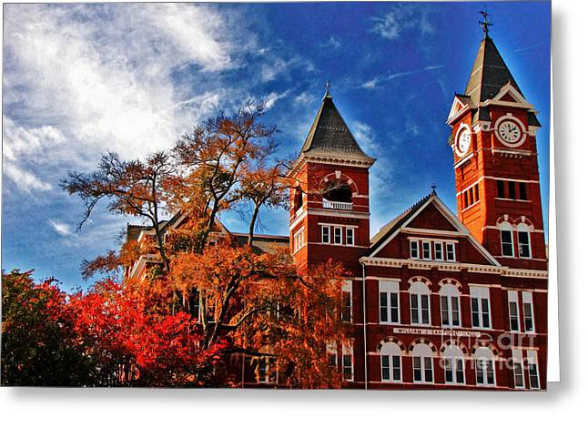 Tori Lawrence Greeting Cards - Samford Hall in the Fall Greeting Card by Victoria Lawrence