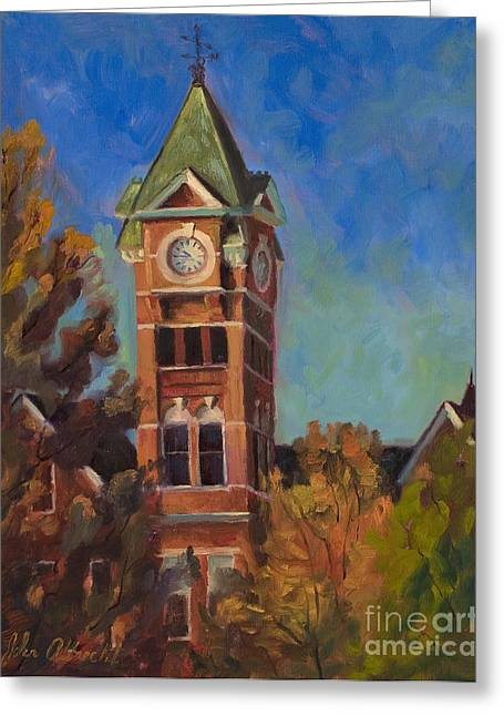 Auburn Greeting Cards - Samford Hall Greeting Card by John Albrecht