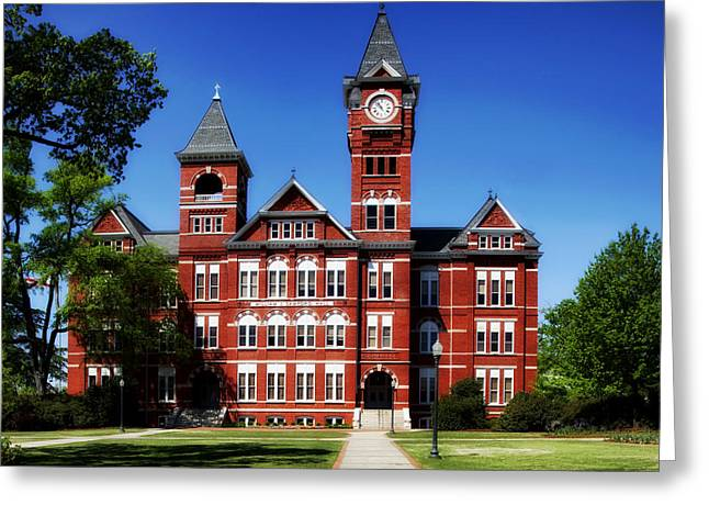 Auburn Greeting Cards - Samford Hall on the Campus of Auburn University Greeting Card by Mountain Dreams
