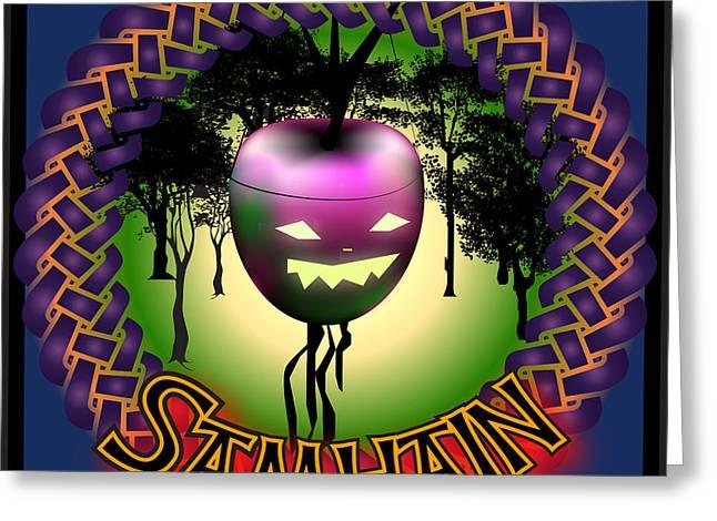 Samhain Greeting Cards - Samhain Festival Greeting Card by Ireland Calling