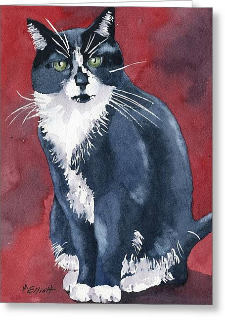 Tuxedo Greeting Cards - Sami Greeting Card by Marsha Elliott