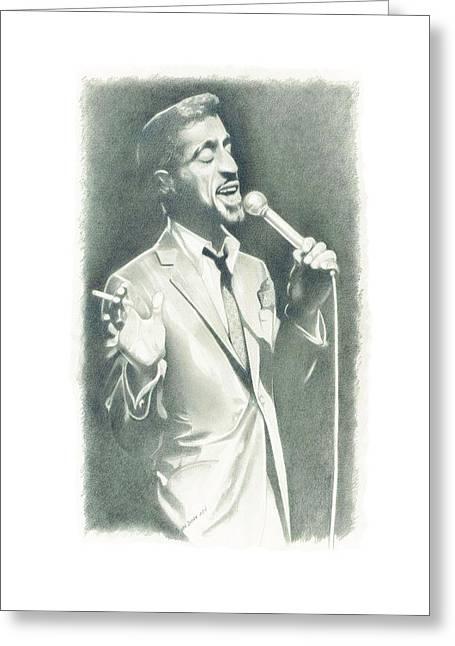 Sammy Davis Jr Greeting Card by Gordon Van Dusen