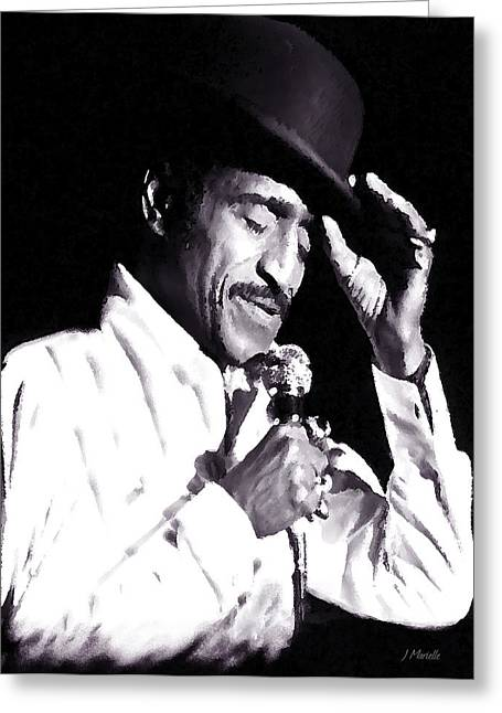 Bojangles Greeting Cards - Sammy Davis Jr. Performing Mr. Bojangles Greeting Card by J Marielle