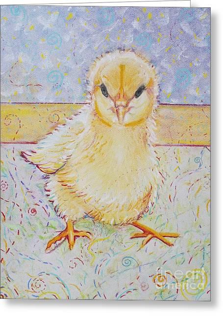 Farm Animals Pastels Greeting Cards - Sammy Peeps Greeting Card by Christine Belt