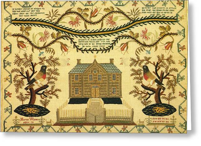 Sampler Greeting Card by Marion Wilson