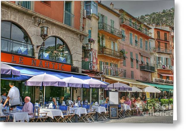 Villefranche Greeting Cards - Sampling the Ambience Greeting Card by David Birchall
