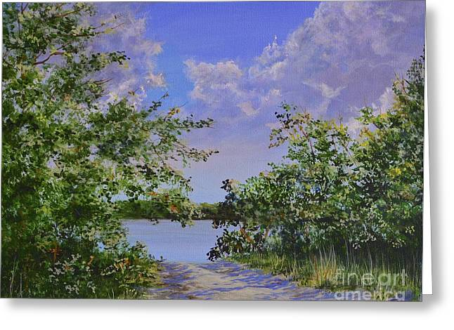 Al Fresco Greeting Cards - Sams Cove Greeting Card by AnnaJo Vahle