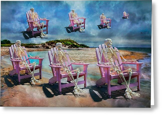 Beach Model Greeting Cards - Sams Imagination  Greeting Card by Betsy C  Knapp