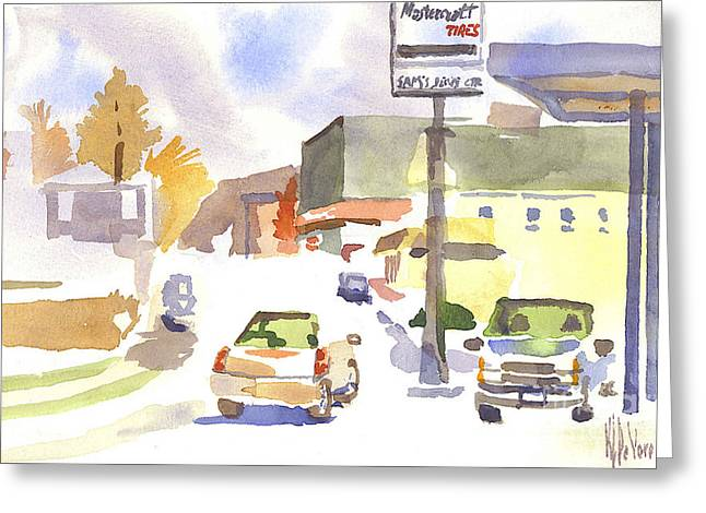 Main Street Greeting Cards - Sams Service Greeting Card by Kip DeVore