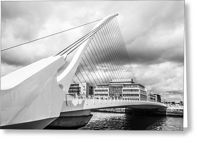 Convention Greeting Cards - Samuel Beckett Bridge Greeting Card by Semmick Photo