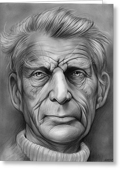 Samuel Beckett Greeting Card by Greg Joens