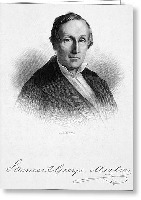 Autograph Greeting Cards - Samuel George Morton Greeting Card by Granger