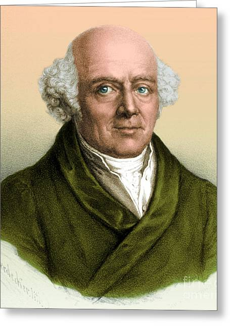 Science Greeting Cards - Samuel Hahnemann, Physician, Father Greeting Card by Science Source