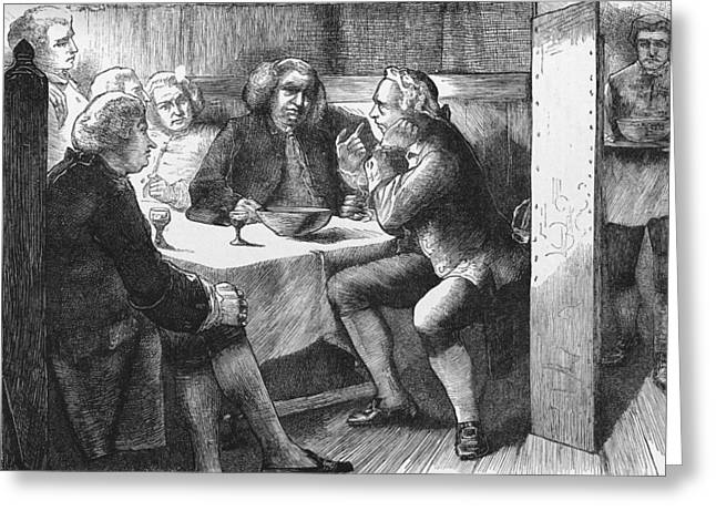Samuel Greeting Cards - Samuel Johnson and friends, 1778 Greeting Card by Science Photo Library