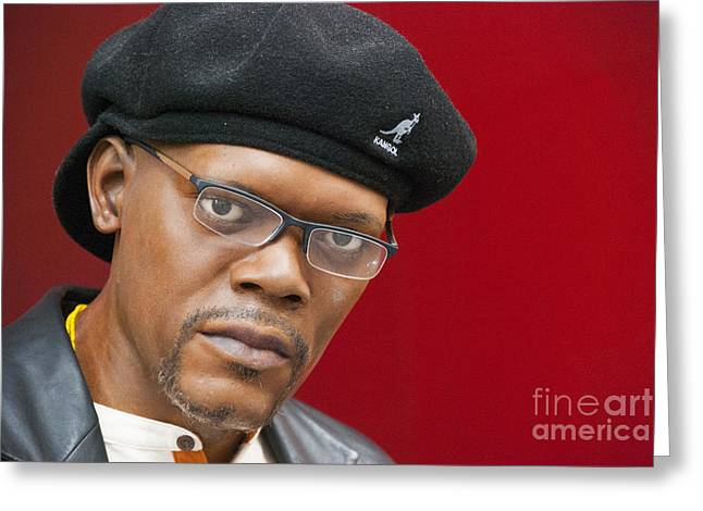 Wax Greeting Cards - Samuel L. Jackson Greeting Card by Juli Scalzi