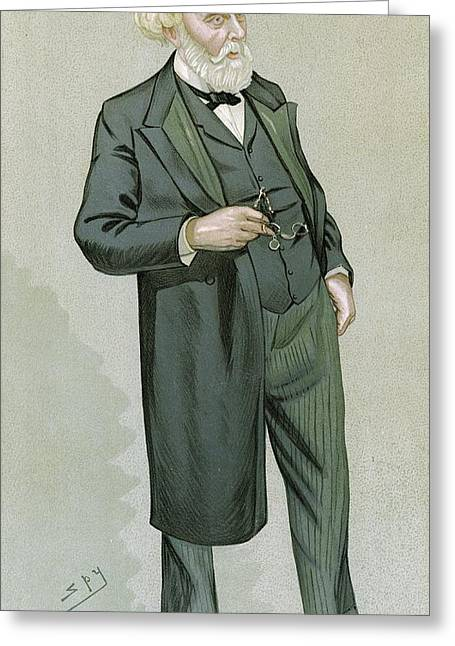 British Portraits Photographs Greeting Cards - Samuel Wilks, British physician Greeting Card by Science Photo Library