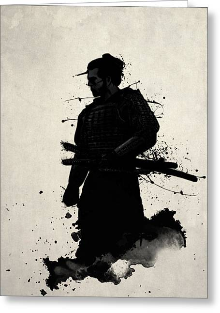 Watercolor Greeting Cards - Samurai Greeting Card by Nicklas Gustafsson