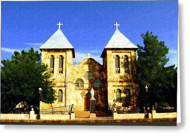 Las Cruces New Mexico Greeting Cards - San Albino Church Greeting Card by Kurt Van Wagner