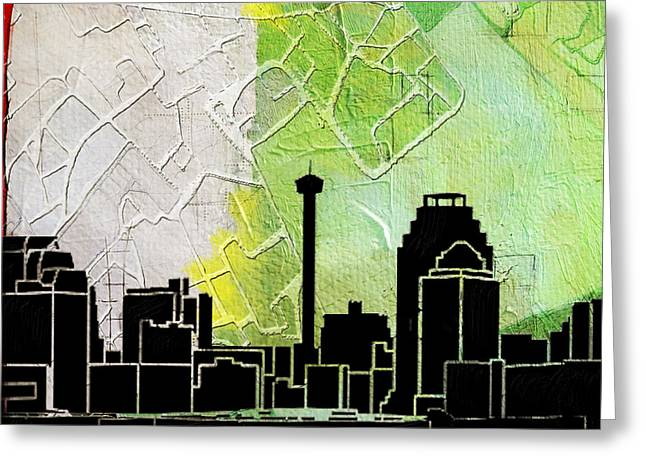 San Antonio 002 B Greeting Card by Corporate Art Task Force
