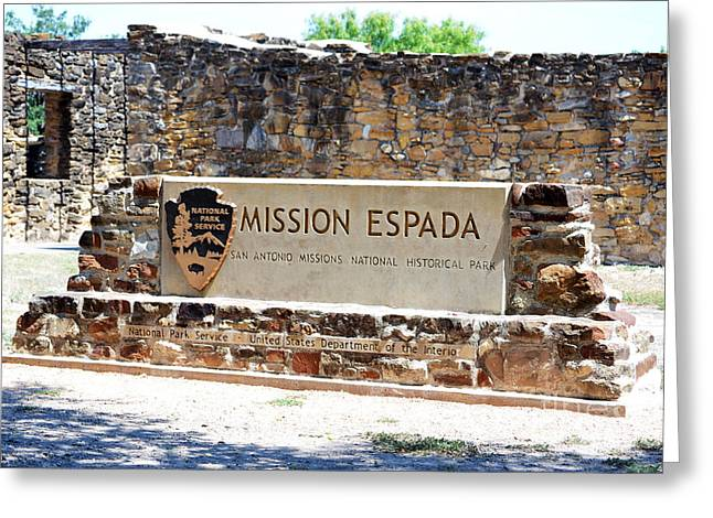 San Antonio Greeting Cards - San Antonio Missions National Historical Park Mission Espada Entrance Greeting Card by Shawn O