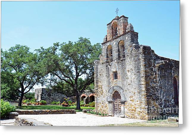 Texas Greeting Cards - San Antonio Missions National Historical Park Mission Espada Exterior Right Greeting Card by Shawn O