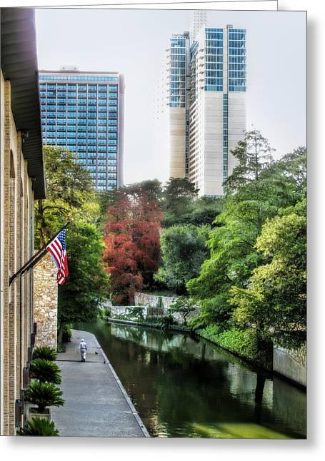 Riverwalk Greeting Cards - San Antonio River Greeting Card by David and Carol Kelly