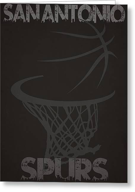 Nba Iphone Cases Greeting Cards - San Antonio Spurs Hoop Greeting Card by Joe Hamilton